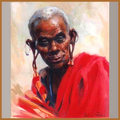 See more paintings of the Maasai by Diana Tetlow